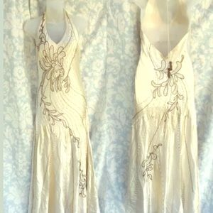 Sue Wong Nocturne v-neck beaded silk gown  12.